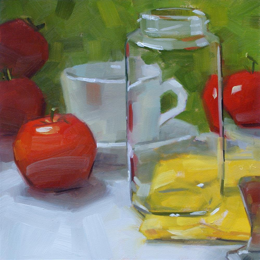 """Apples or Tomatoes?"" original fine art by Jiyoung Kim"