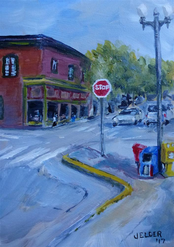 """12th and Harris"" original fine art by Judith Elder"