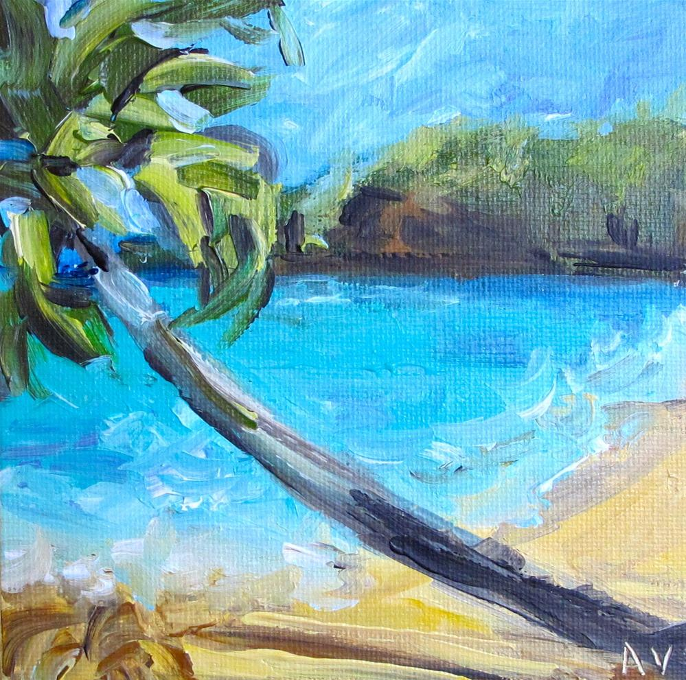 """Beach Scene 3"" original fine art by Alina Vidulescu"