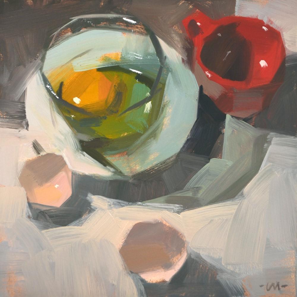 """My Red Cup"" original fine art by Carol Marine"