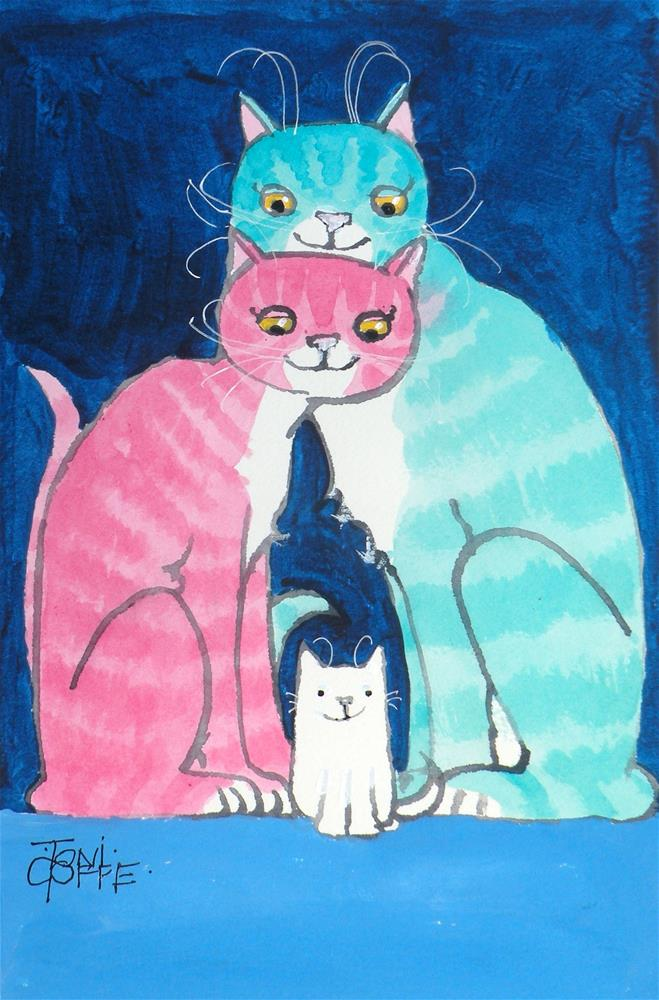 """Our First Kitten"" original fine art by Toni Goffe"
