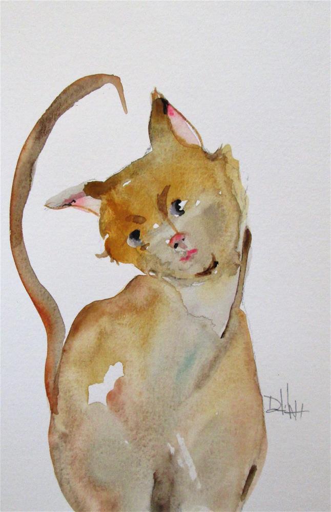 """Curious Cat"" original fine art by Delilah Smith"
