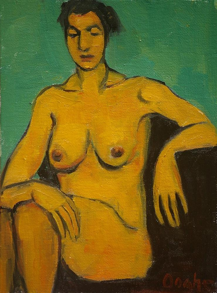 """""""Seated Nude"""" original fine art by Angela Ooghe"""