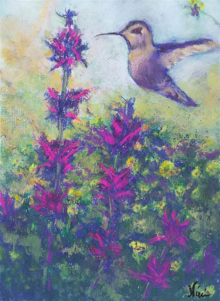 """""""Hummingbird"""" original fine art by Niki Hilsabeck"""