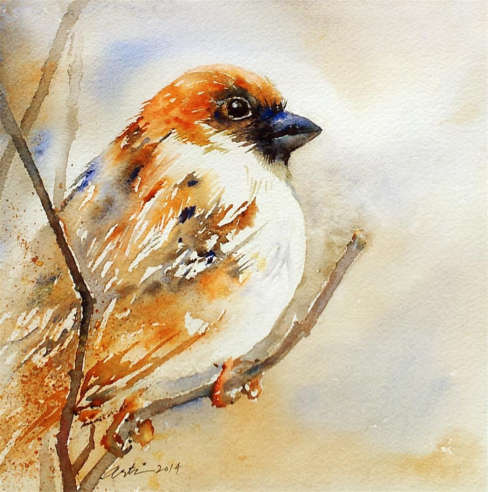 """The Brown Sparrow"" original fine art by Arti Chauhan"