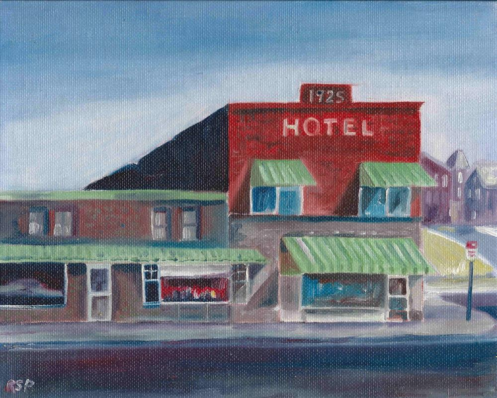 """""""Old Hotel """" original fine art by R. S. Perry"""