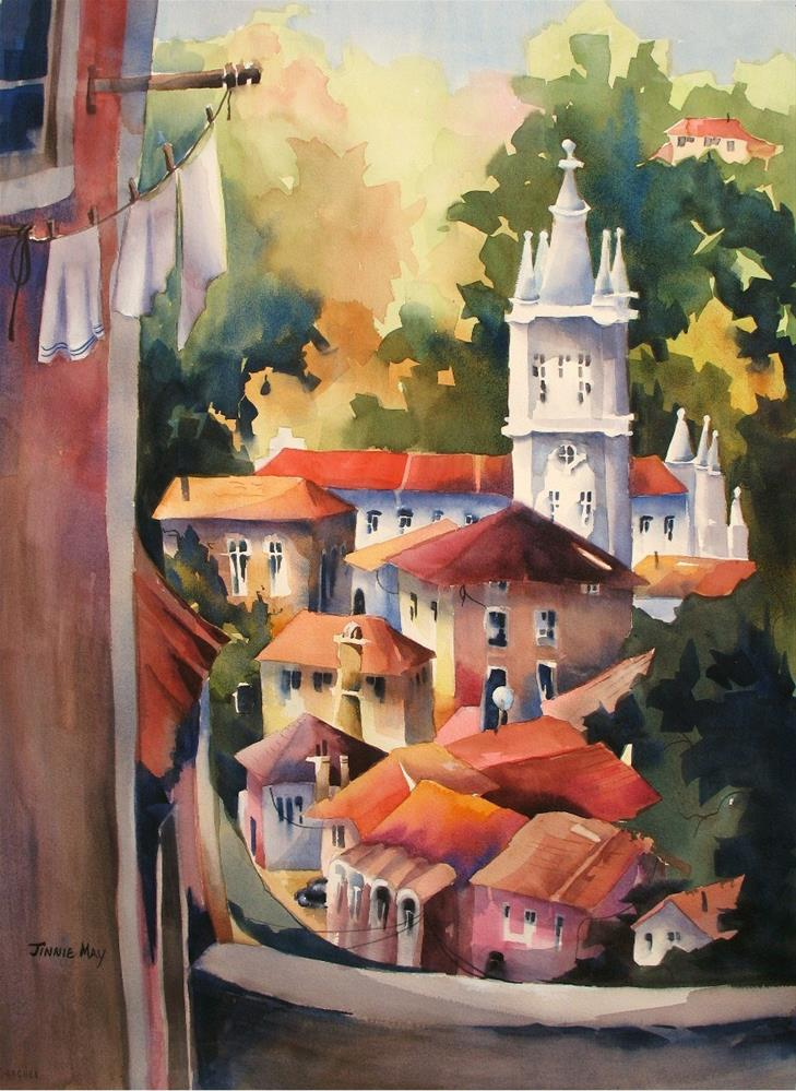 """Sintra from the Balcony"" original fine art by Jinnie May"
