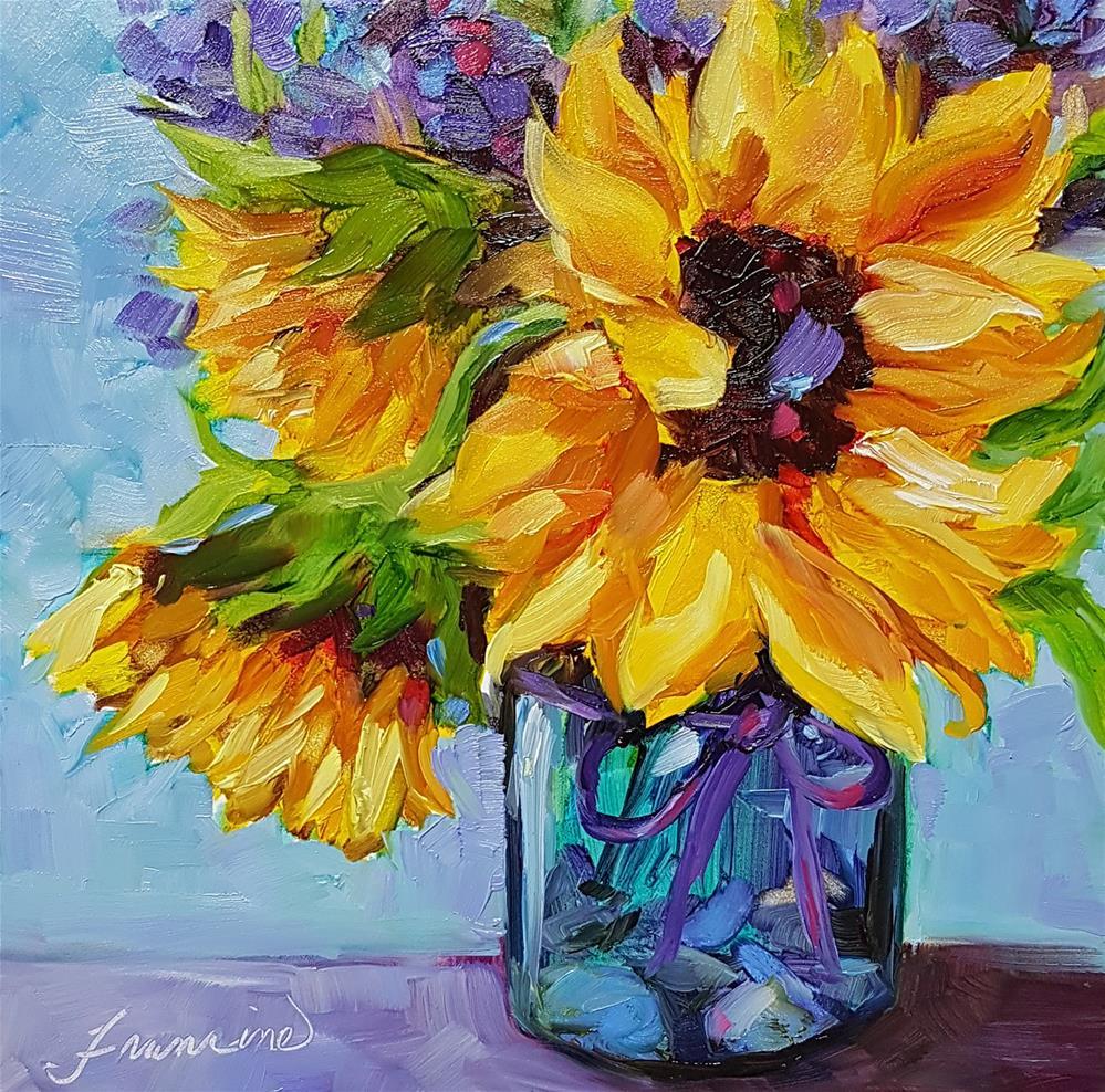 """The Sunshine Girls"" original fine art by Francine Dufour~Jones"