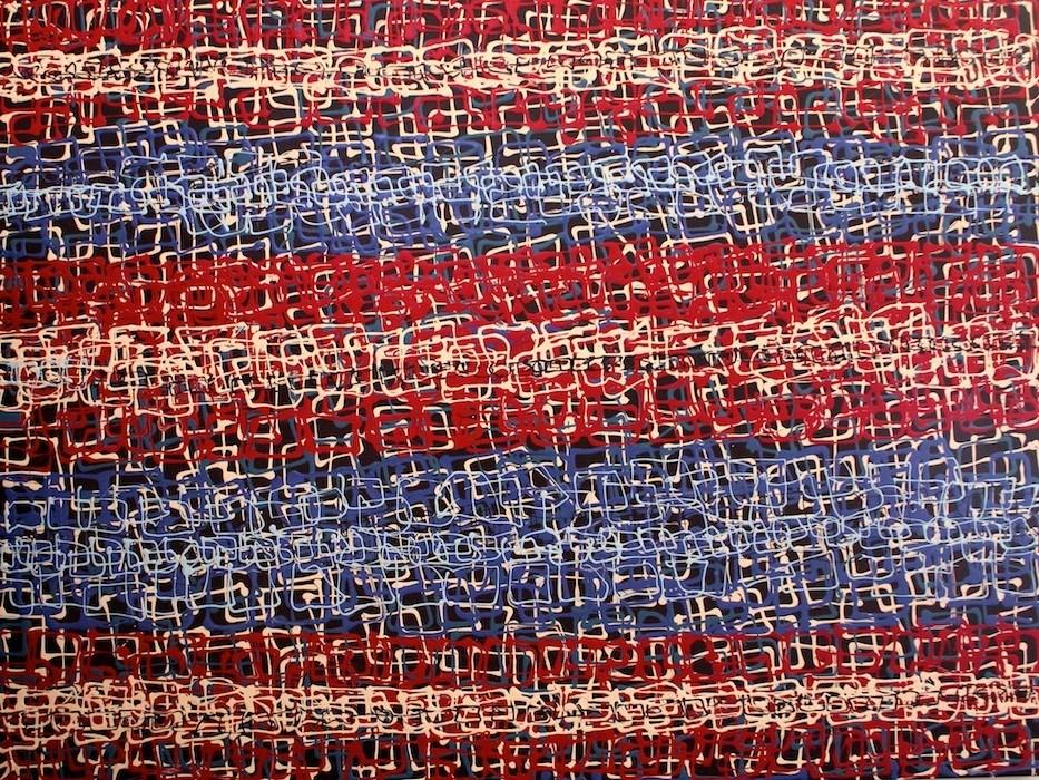 """""""Flag Fantasy"""" original fine art by Khrystyna Kozyuk"""