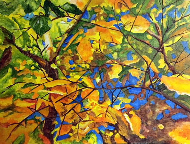 """In The Trees"" original fine art by Nan Johnson"