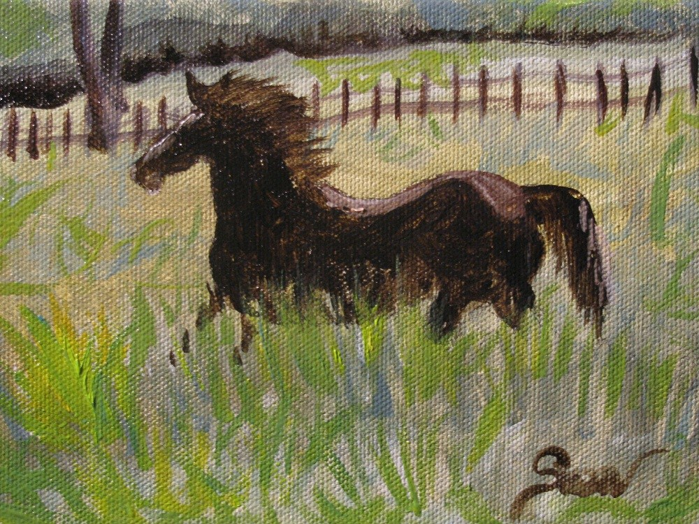 """Destined"" original fine art by Susan Elizabeth Jones"