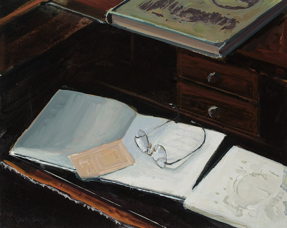 """Desk"" original fine art by Chris Breier"