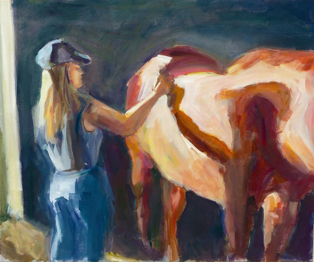 """""""A Girl and Her Horse"""" original fine art by Beth Carrington Brown"""