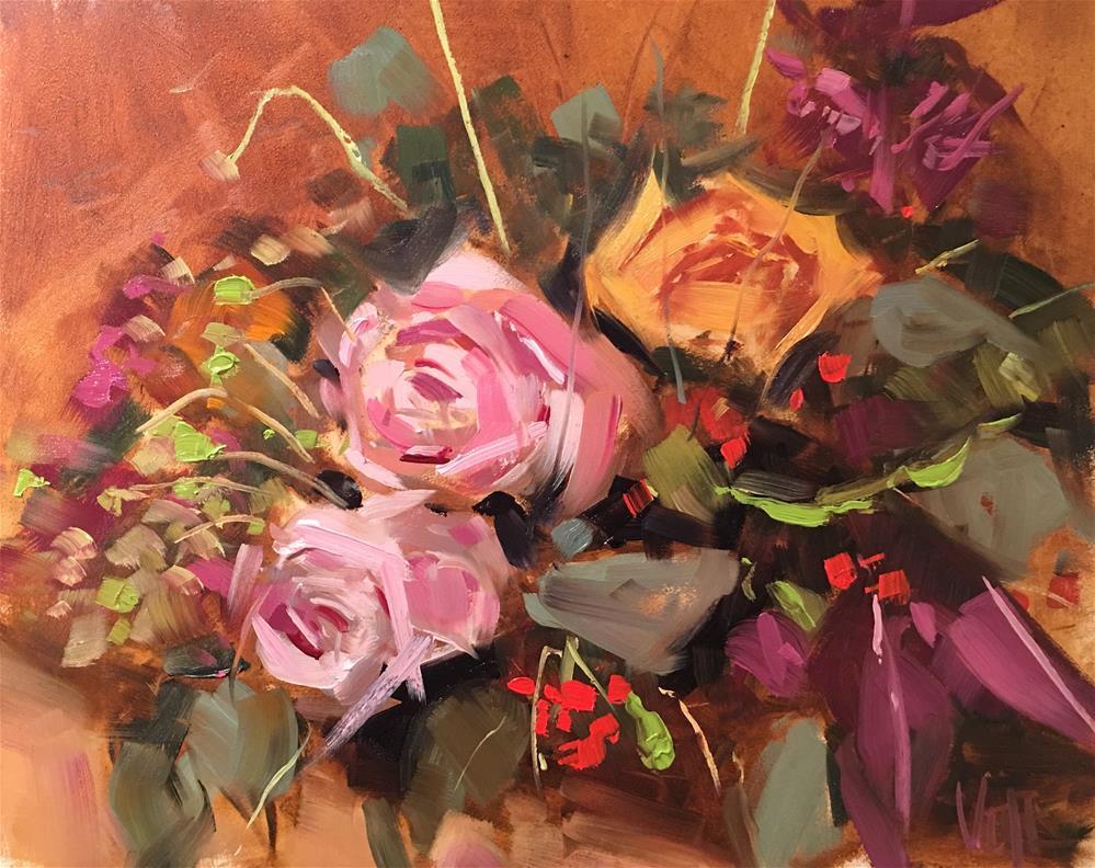 """404 Wedding Flowers"" original fine art by Patty Voje"