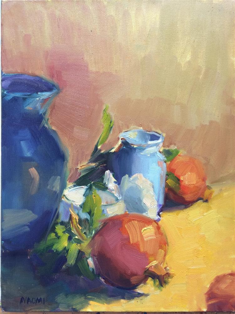 """Pomegranates"" original fine art by Naomi Bautista"