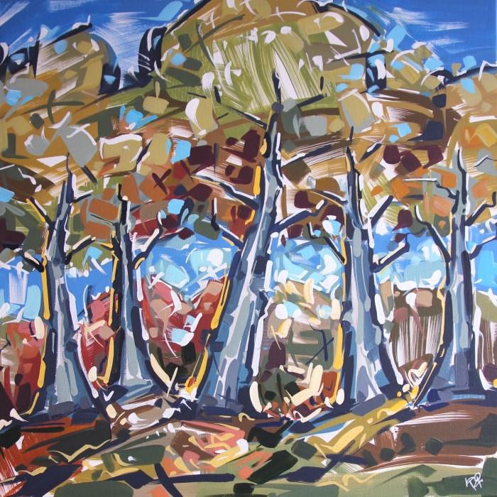 """Landscape Exploration 30"" original fine art by Roger Akesson"