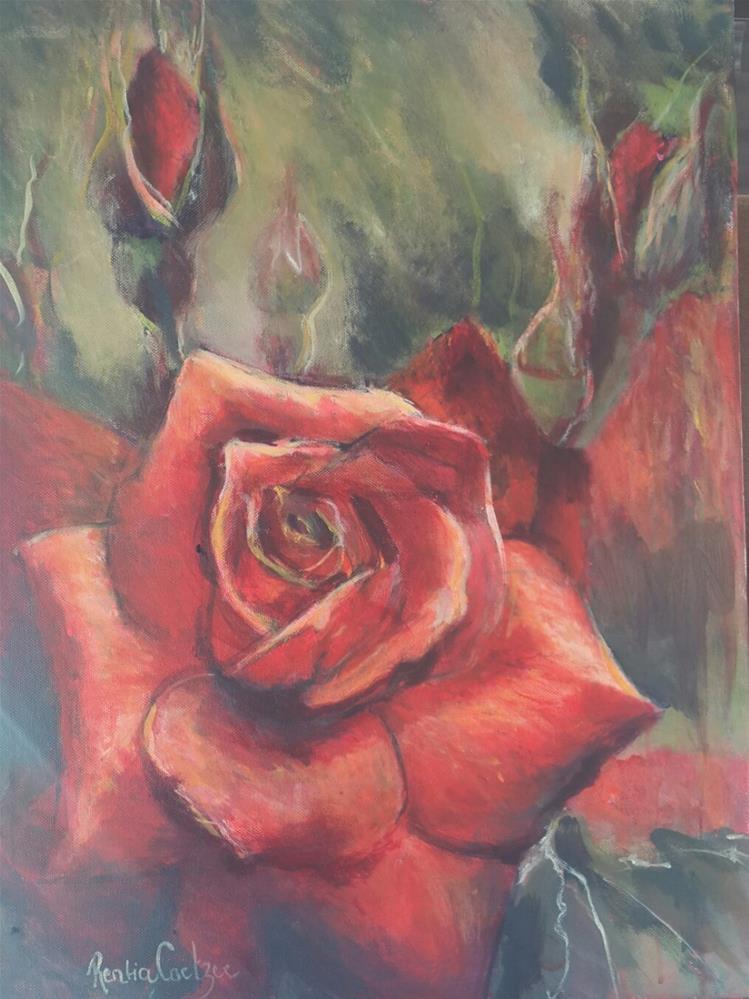 """""""Garden of my heart"""" original fine art by Rentia Coetzee"""
