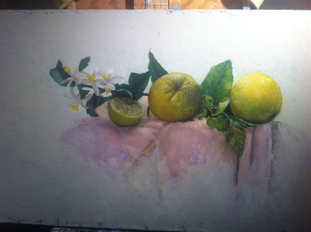 """""""Work in progress"""" original fine art by Paulo Jimenez"""