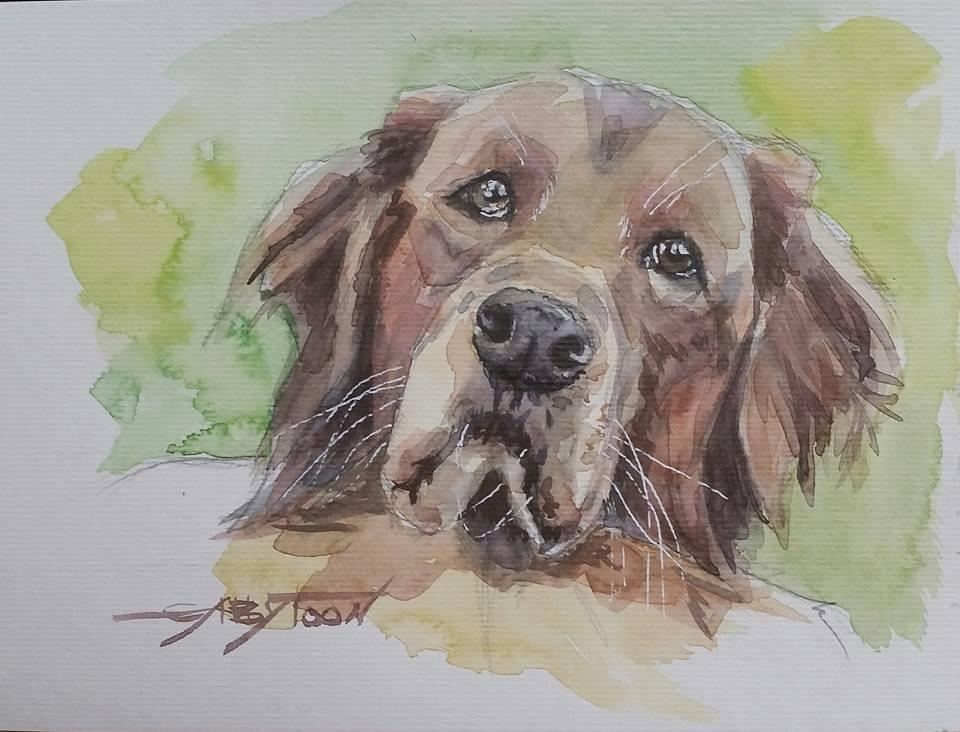 """Best Friend-2"" original fine art by Gabriella DeLamater"