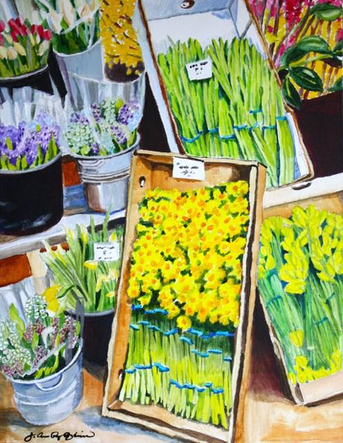 """Flower Boxes"" original fine art by JoAnne Perez Robinson"