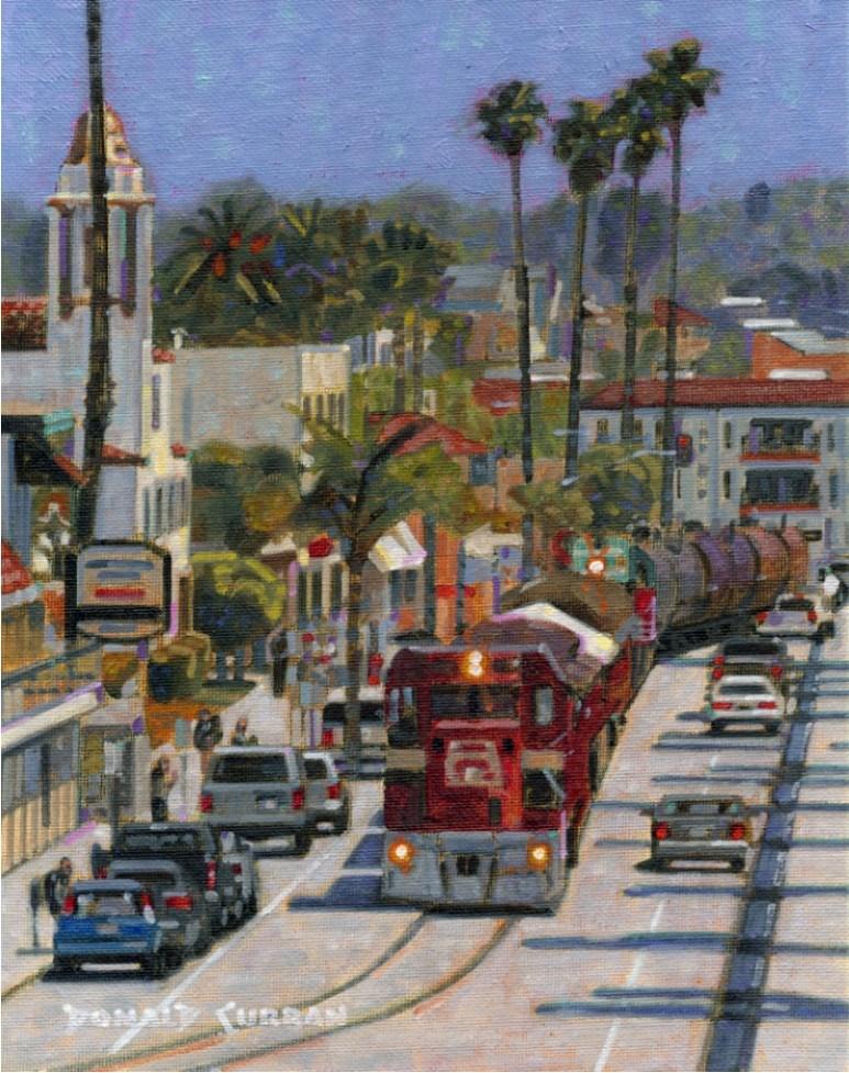 """California Train"" original fine art by Donald Curran"