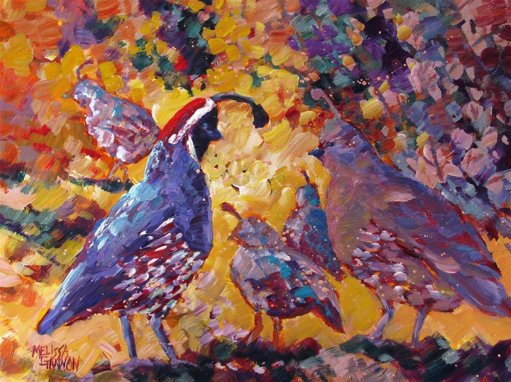 """Family Moment"" original fine art by Melissa Gannon"