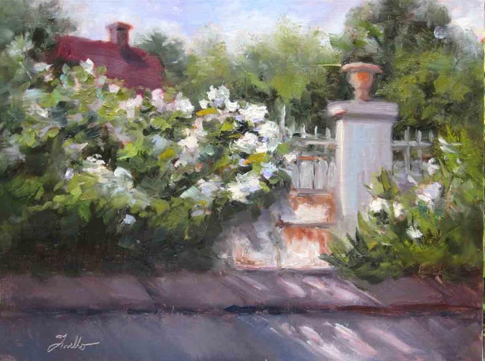 """Rue Claude Monet"" original fine art by Pat Fiorello"
