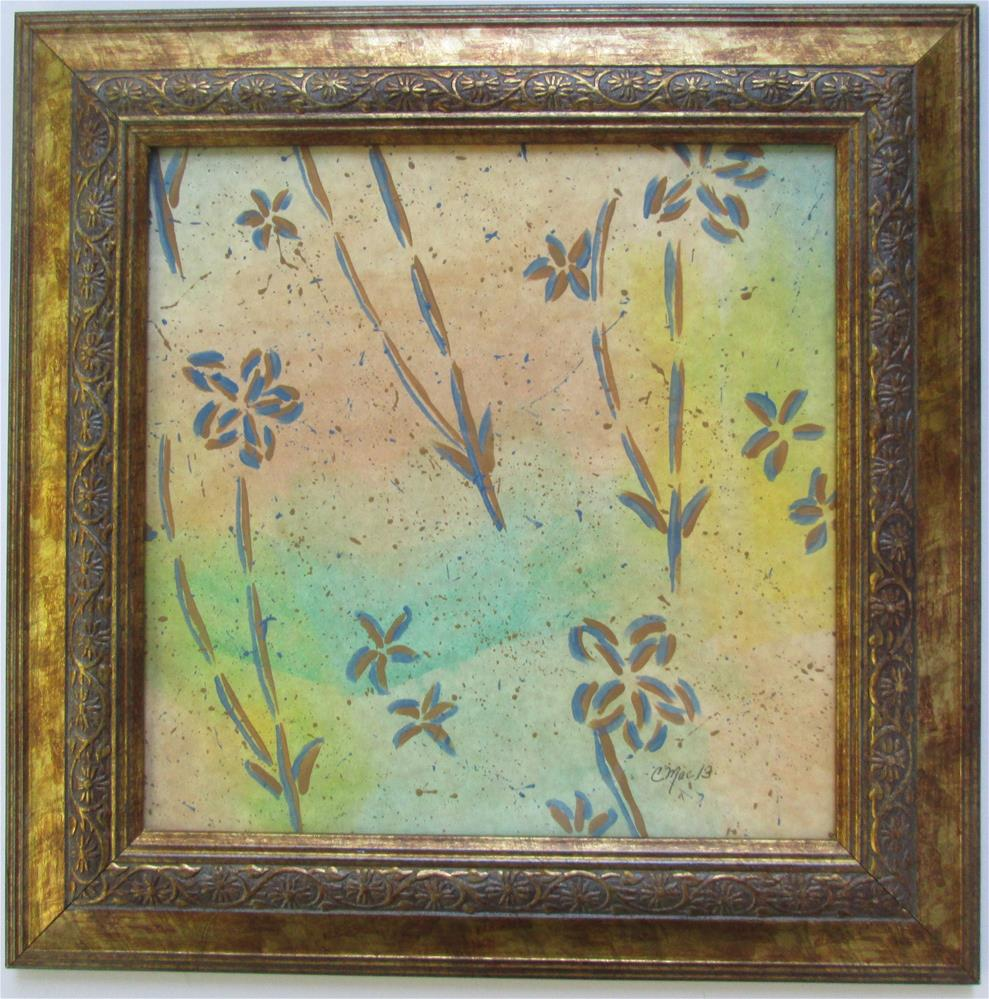 """Chinese stencil painting and frame"" original fine art by Chris MacCormack"