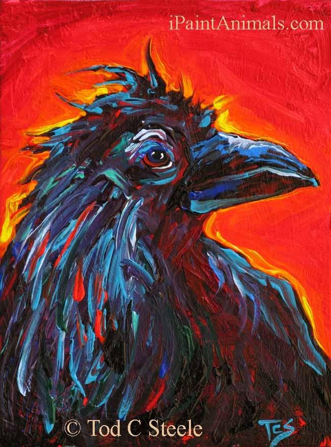 """Russell Crow - by Tod C Steele"" original fine art by Tod Steele"