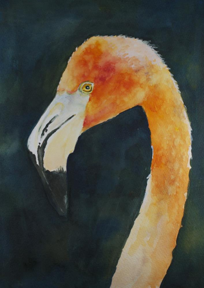 """""""Looking at You"""" original fine art by Sue Churchgrant"""