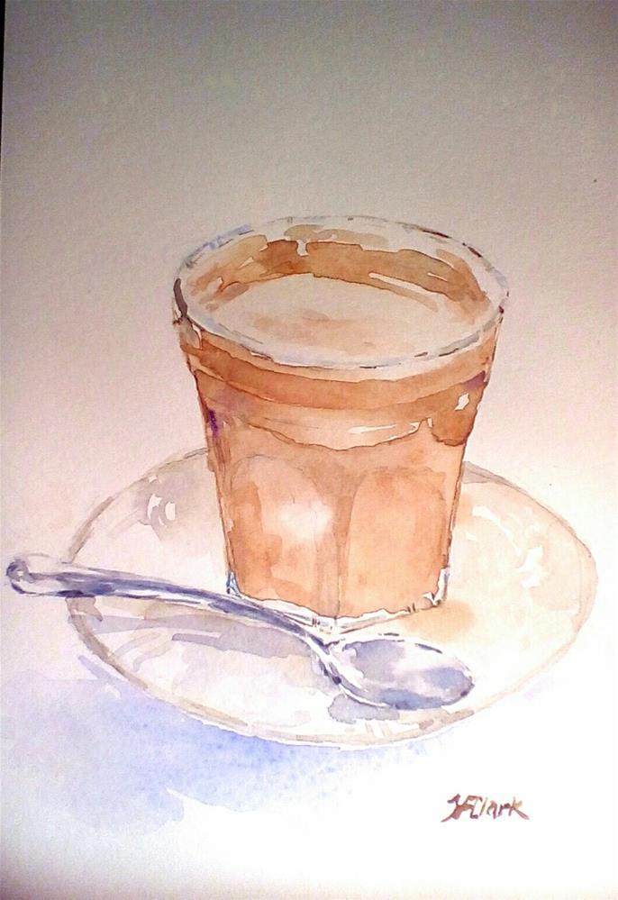 """Latte macchiato, study"" original fine art by Judith Freeman Clark"