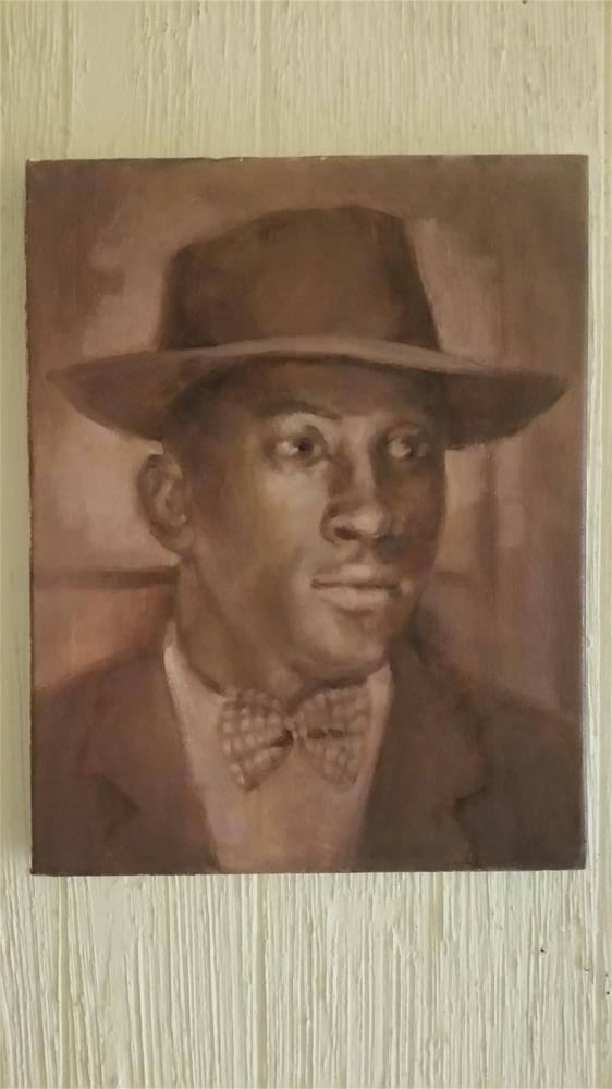 """""""Painting from old photograph"""" original fine art by jerry hunsinger"""