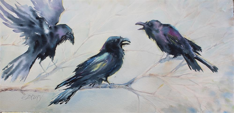 """Ravens"" original fine art by Colleen Drury"