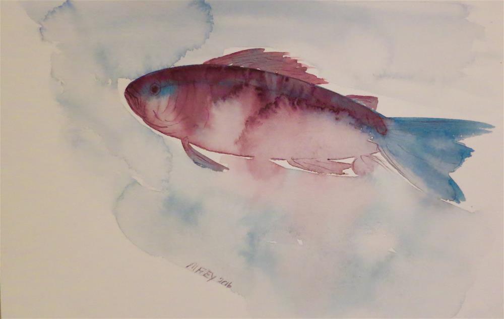 """Fish 0129"" original fine art by Michelina Frey"