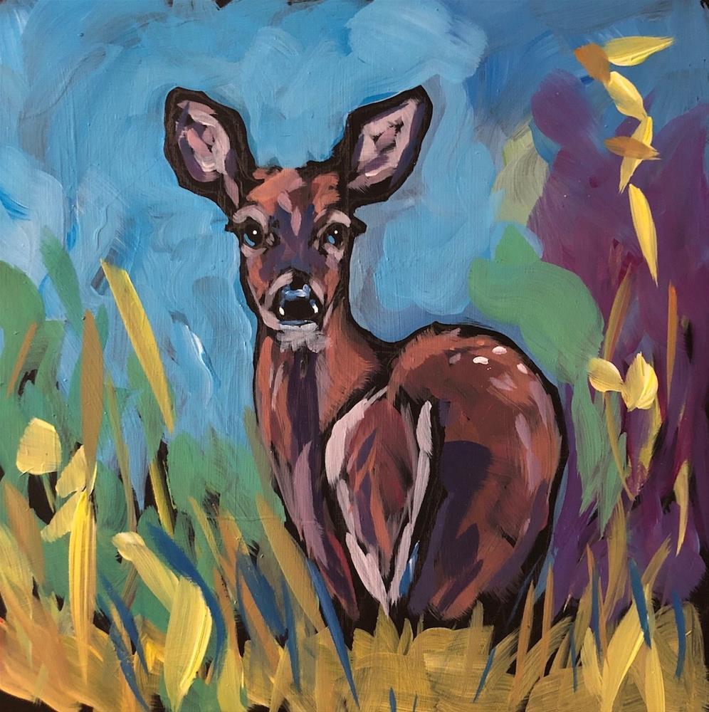 """Fawn Grasses"" original fine art by Kat Corrigan"