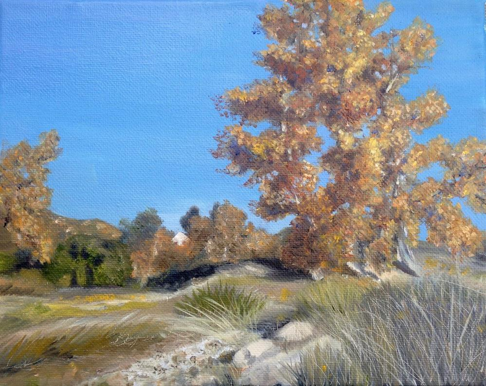 """Fall at the Ranch"" original fine art by Karen Stitt"