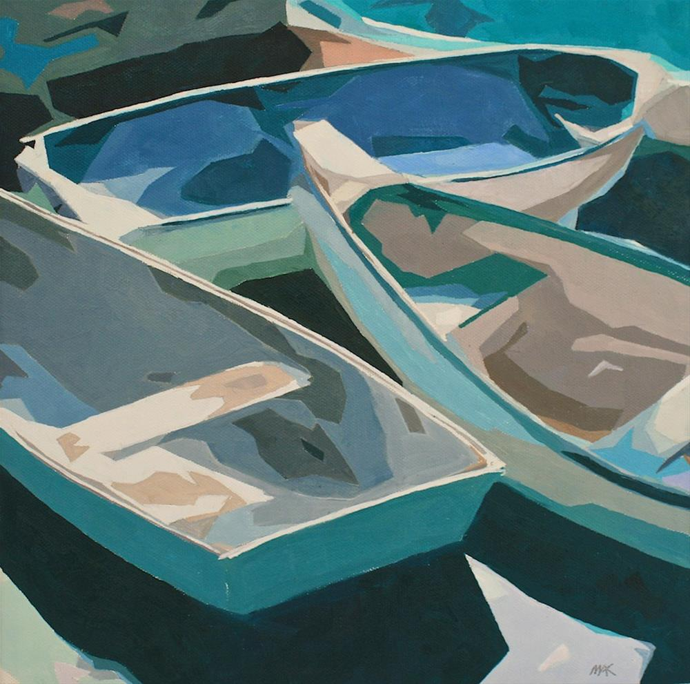 """""""Abstract Boats"""" original fine art by Mary Anne Cary"""