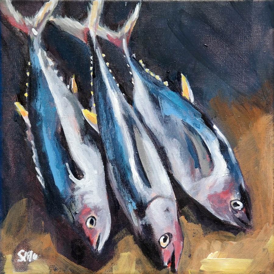 """1885 Tuna"" original fine art by Dietmar Stiller"