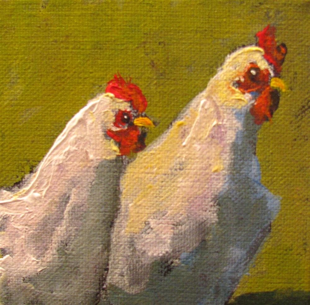 """Birds of a Feather"" original fine art by Susan Elizabeth Jones"