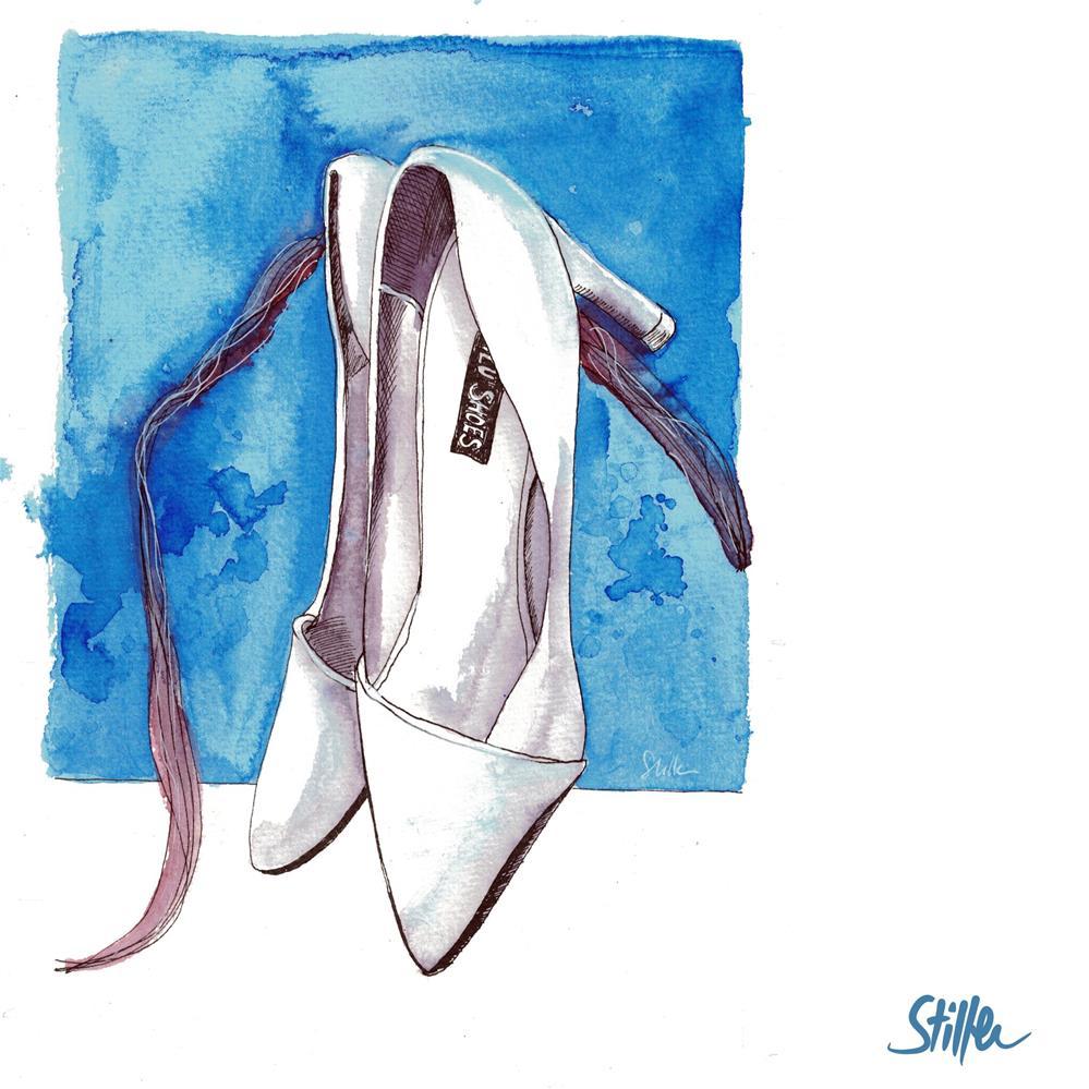 """3693 White shoes"" original fine art by Dietmar Stiller"