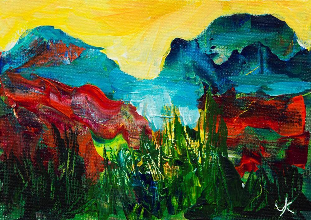 """Blue Mountains"" original fine art by Yulia Kazansky"