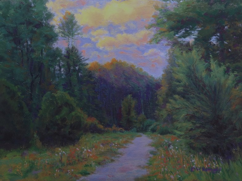 """""""Into The Forest"""" original fine art by Michael Kennedy"""