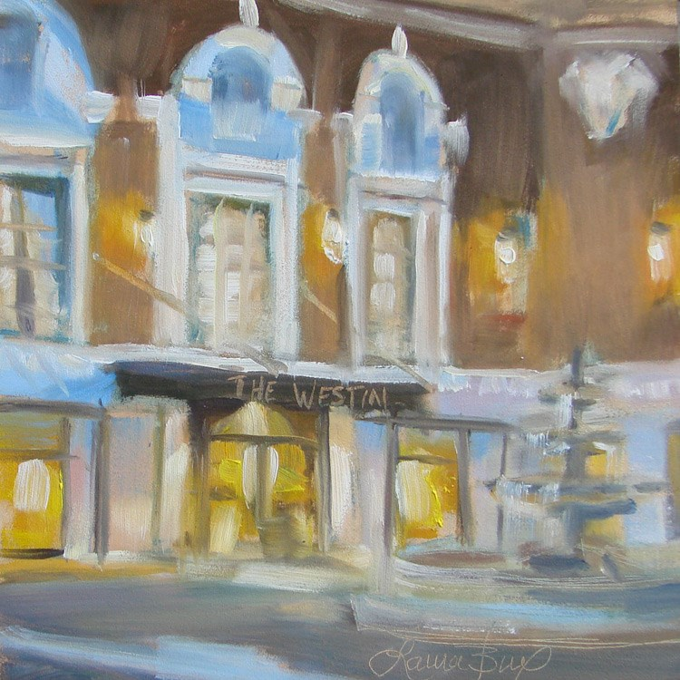 """Pointsett Hotel - 398"" original fine art by Laura  Buxo"