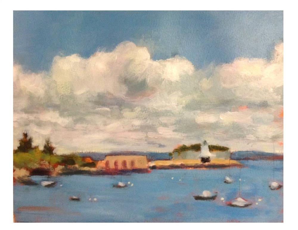 """""""View From Willard Beach"""" original fine art by Suzanne Woodward"""