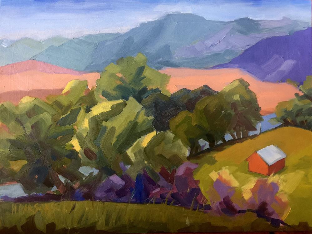"""Along the Stillwater"" original fine art by Nancy Parsons"