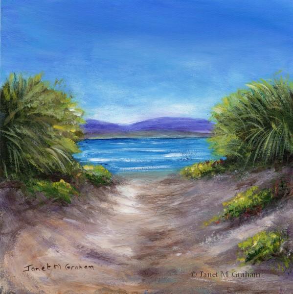 """Seaside Escape"" original fine art by Janet Graham"