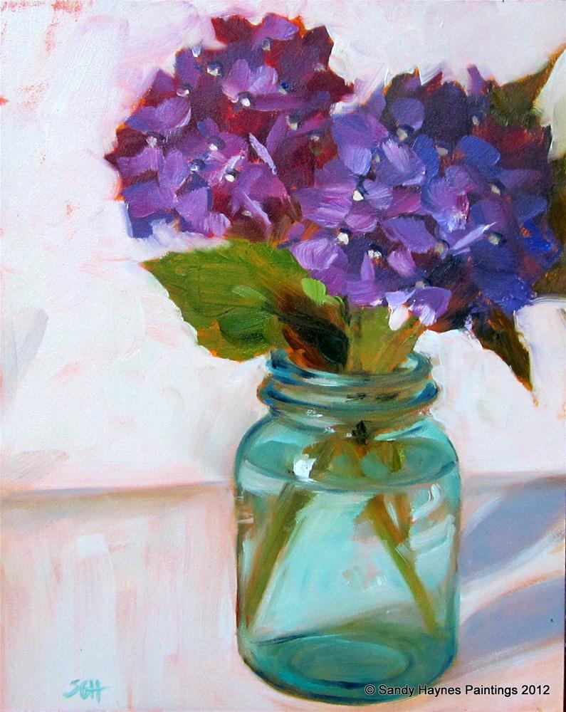 """Purple perspective"" original fine art by Sandy Haynes"