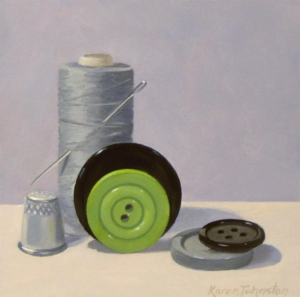 """Sewing Notions"" original fine art by Karen Johnston"