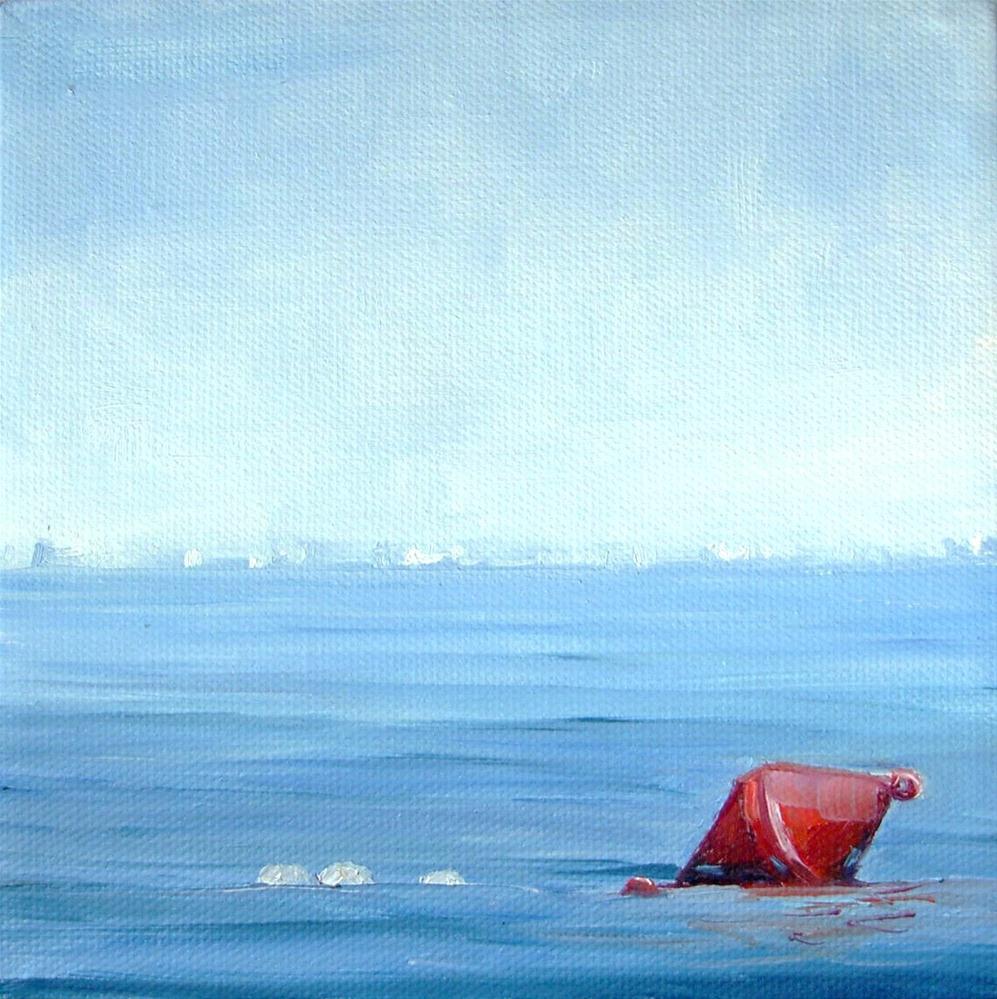 """Red Bobber"" original fine art by Dianna Poindexter"