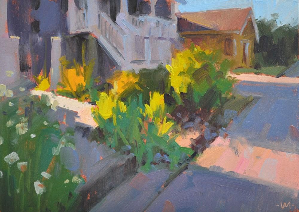 """Slanty Bits of Light 1"" original fine art by Carol Marine"